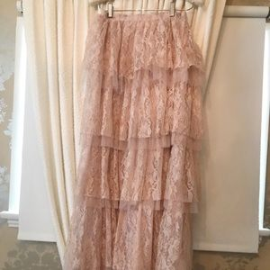 Dresses & Skirts - Victorian Lace Tiered Maxi skirt